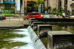 清溪川小河,汉城,韩国 库存照片