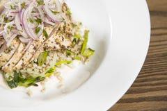 清爽地午餐的好沙拉 免版税库存照片