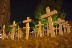 清白的人的墓地 免版税库存照片