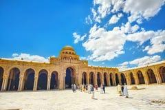 清真大寺在凯鲁万 突尼斯,北非 免版税库存图片