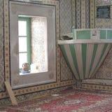 清真寺内部的看法 图库摄影
