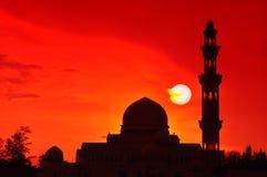 清真寺剪影 库存照片