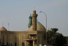 清真寺和阿訇礼萨,巴士拉,伊拉克圣洁寺庙  免版税库存图片