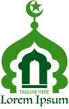 清真寺商标或标志 免版税图库摄影