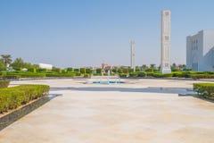 清真寺回教族长扎耶德Grand Mosque,迪拜、阿拉伯联合酋长国、人和 2015年 库存图片