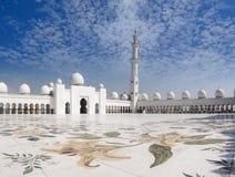 清真寺回教族长游廊zayed 免版税库存照片