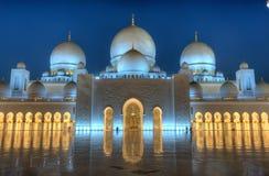 清真寺回教族长zayed 免版税库存图片