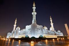 清真寺回教族长zayed 库存照片