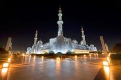 清真寺回教族长zayed 免版税图库摄影