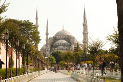 清真寺在伊斯坦布尔命名了圣索非亚大教堂 库存图片