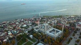 清真寺在伊斯坦布尔土耳其 股票视频