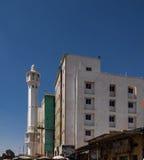 清真寺在哈尔格萨,最大的市索马里兰11 01 2016年索马里 免版税库存照片