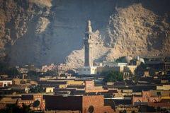 清真寺在埃及风景开罗市 库存图片