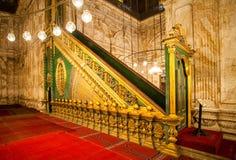 清真寺在埃及风景开罗市 库存照片