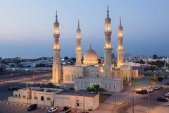 清真寺在拉斯海玛,阿拉伯联合酋长国 库存图片