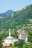 清真寺在斯莫梁在保加利亚 库存图片
