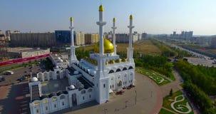清真寺在阿斯塔纳市 股票录像