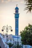 清真寺在马斯喀特的中心 库存图片