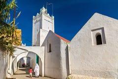 清真寺在Azemmour镇,摩洛哥 库存图片