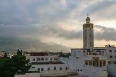 清真寺在Tetouan,摩洛哥 免版税库存图片