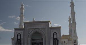 清真寺垂直的panorame在阿斯塔纳哈萨克斯坦 股票录像