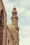 清真寺尖塔,葡萄酒 库存图片