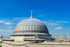 清真寺屋顶上面在土耳其 库存图片