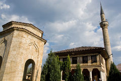 清真寺无背长椅期间 免版税库存图片