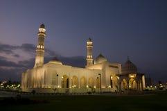 清真寺晚上阿曼qaboos salalah苏丹 库存图片