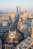 清真寺环形交通枢纽在科威特 库存图片