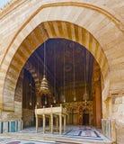 清真寺的全景 免版税库存照片