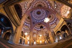 清真寺的内部车臣的心脏 图库摄影