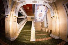 清真寺的内部车臣的心脏 库存图片