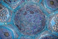 清真寺的圆顶,东方装饰品,撒马而罕 免版税库存图片