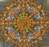 清真寺的枝形吊灯 库存照片