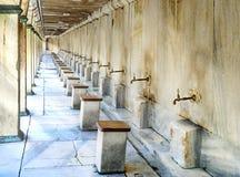清真寺的洗净液的设施 库存图片