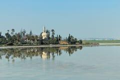 清真寺看法在塞浦路斯 免版税库存照片