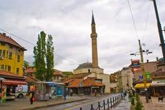 清真寺萨拉热窝 免版税库存图片