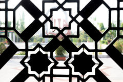 清真寺装饰样式Sillhoutte  免版税库存照片