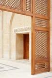 清真寺门在阿曼,约旦 库存图片