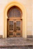 清真寺门的特写镜头,迪拜 库存照片