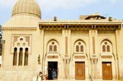 清真寺门面-开罗-埃及 免版税库存图片