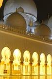 清真寺阿布扎比 免版税图库摄影