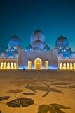 清真寺阿拉伯联合酋长国回教族长zayed 免版税库存照片