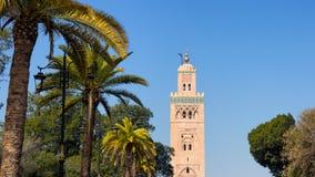 清真寺马拉喀什摩洛哥 免版税库存照片