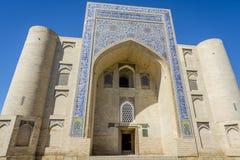 清真寺,布哈拉,乌兹别克斯坦 库存图片
