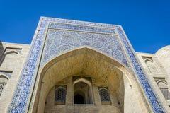 清真寺,布哈拉,乌兹别克斯坦 图库摄影