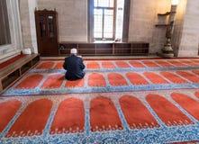 清真寺,读Qur的`的穆斯林 库存图片