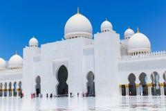 清真寺-阿布扎比- Shaiekh扎耶德 图库摄影