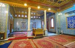 清真寺` s内部, Manial宫殿,开罗,埃及 库存照片